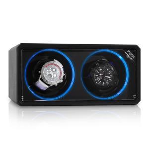 8LED2S porta orologi rotante nero effetto LED