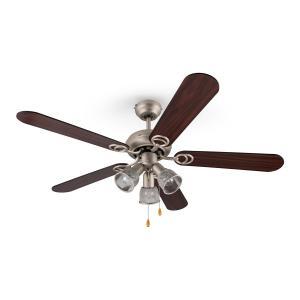 Charleston Ventilatore da Soffitto 122 cm 3 Lampadine 60W Pale in legn