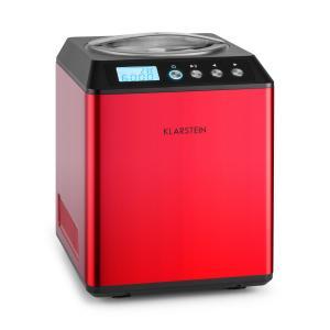 Vanilla Sky Macchina per Gelato Compressore 2l 180W Acciaio Rosso