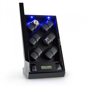 Klingenthal Portaorologi Rotazione Destra-Sinistra 12 Orologi LED Touch Nero
