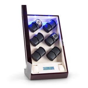 Klingenthal Portaorologi a Rotazione Destra-Sinistra 12 Orologi LED Touch Mogano mogano