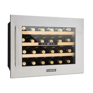 Vinsider 24D Cantinetta Vino Incasso 1 Zone Refrigerazione 24 Bottiglie Acciaio Inox
