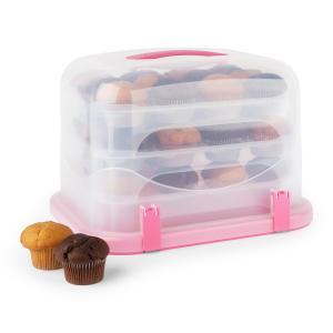 Pinkkäppchen XL Campana per Torte Porta Cupcake 36pz. 34,5x25x25,5cm rosa