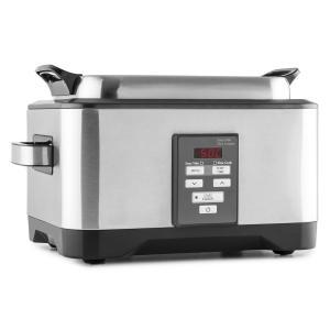 Deepvide Pentola Sottovuoto Sous Vide Acciaio Inox Spazzolato Slow cooker 8l 550W