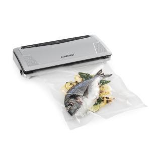 FoodLocker Slim Macchina per Sottovuoto 30 cm 10 Sacchetti Argento 130W