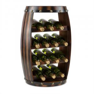 Image For Barrica Armadio per Vino in Legno Botte Portabottiglie 14 Bottiglie Abete Rosso