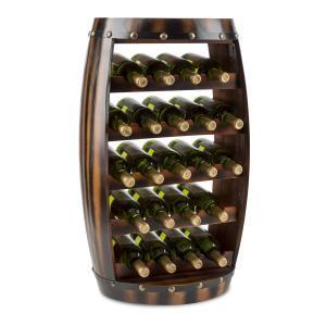 Image For Barrica Armadio per Vino in Legno Botte Portabottiglie 22 Bottiglie Abete Rosso