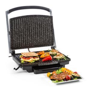 Edelstein Grill A Contatto Multifunzioni Piastra Per Panini 2000W 240°C Acciaio Inox Nero nero