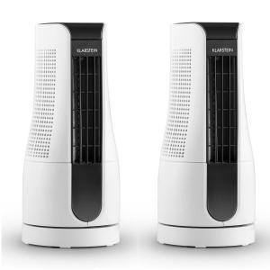Skyscraper Office Coppia ventilatori da Tavolo 16W Touch Bianco