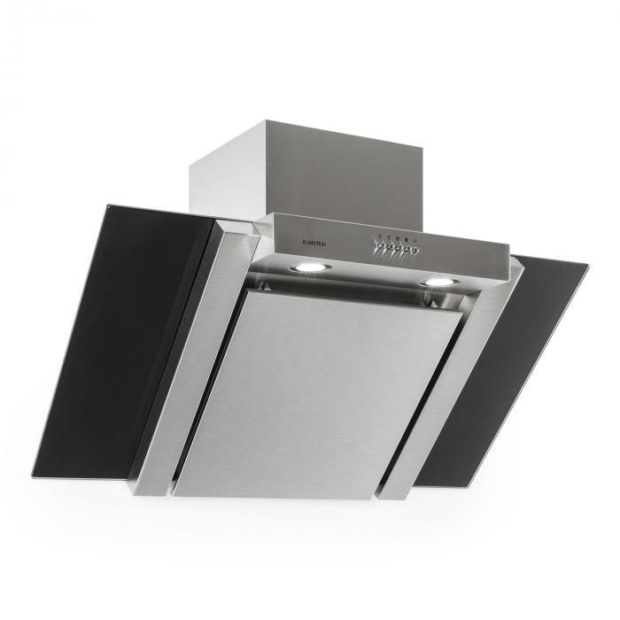 RGL90WSB cappa in acciaio inox 90cm Classe E 350 m³/h nero ...