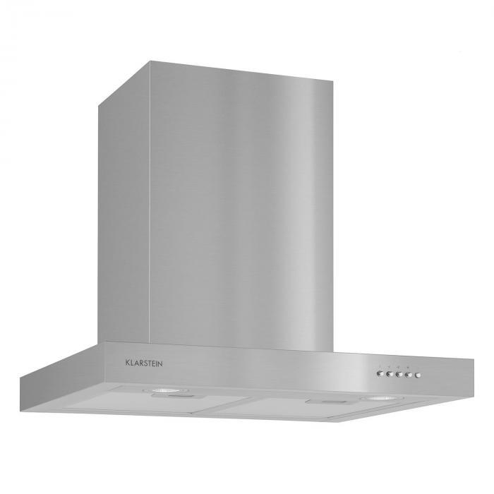 Zarah cappa aspirante acciaio inox 60 cm montaggio a parete 620 m h led klarstein - Montaggio cappa cucina ...