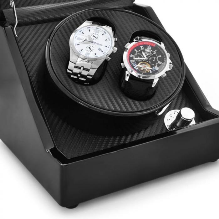 Ca1pm espositore per 2 orologi color carbone klarstein - Porta orologi automatici ...