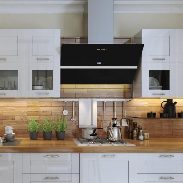 Aurea vii cappa aspirazione 195w 90cm 620 m h vetro touch - Cappa cucina 90 cm ...