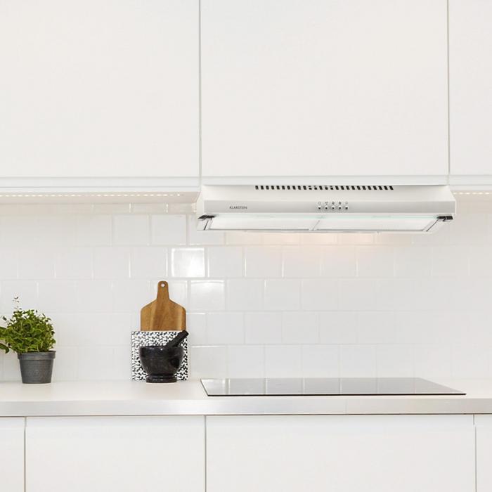 Purista cappa sottopensile parete inox vetro 60 cm 166 m h klarstein - Cappa cucina sottopensile ...