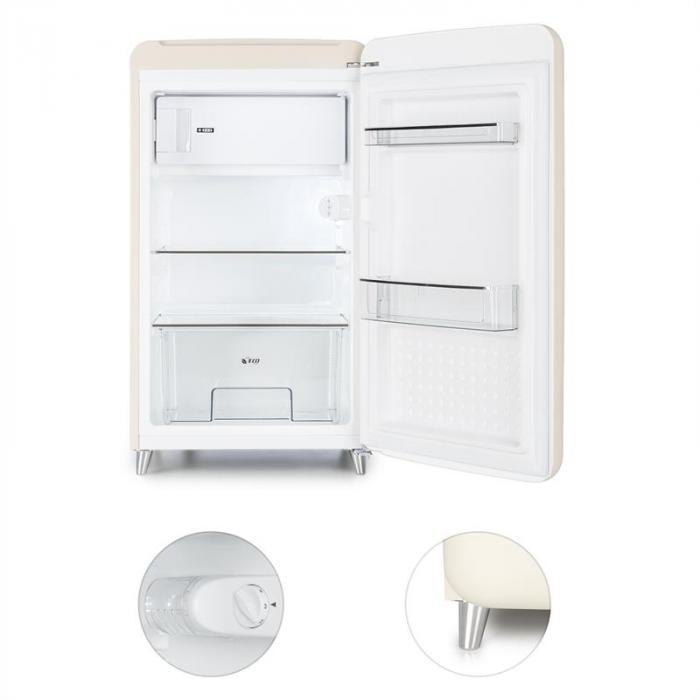 popart cream frigorifero retro scomparto congelatore a. Black Bedroom Furniture Sets. Home Design Ideas
