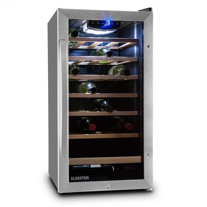 reserva vivo vino cantinetta per vino frigo vino 88 litri 26 bottiglie klarstein. Black Bedroom Furniture Sets. Home Design Ideas