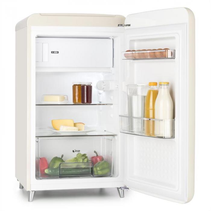 popart cream frigorifero retro scomparto congelatore a 108 l 13 l crema crema klarstein. Black Bedroom Furniture Sets. Home Design Ideas
