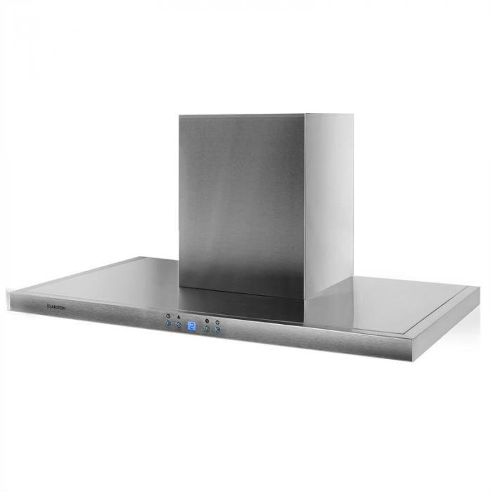 Rc90ws cappa aspirante 90cm acciaio inox classe d klarstein - Cappa cucina senza tubo ...